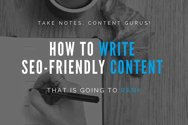 SEO friendly content