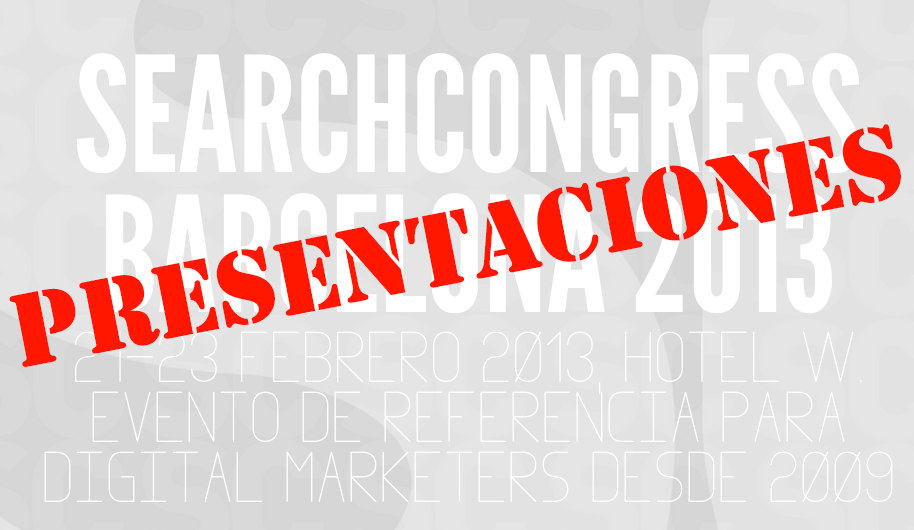 presentaciones search congress 2013