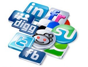 Imagen de iconos de social networking